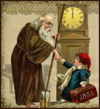 happy new year 19th c art of father time