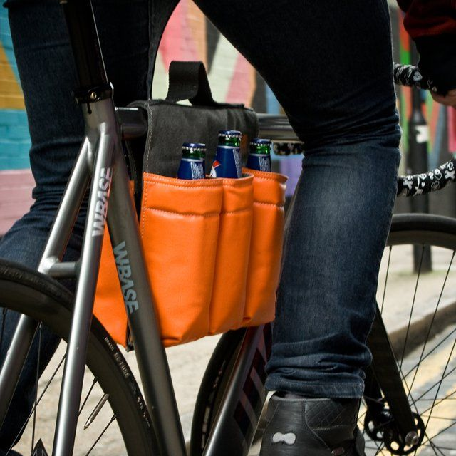 6 Pack Bike Bag / This 6 Pack Bike Bag has been ideally made for bikers to quench their thirst while being on hectic road trips everyday. http://thegadgetflow.com/portfolio/6-pack-bike-bag/