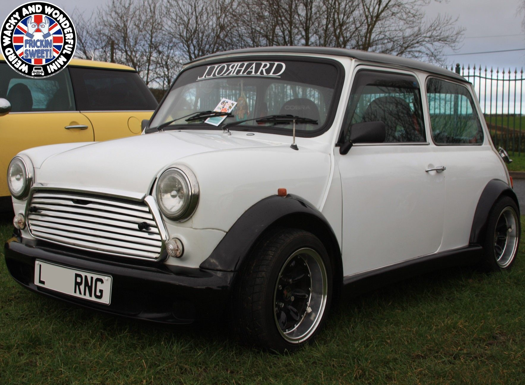 e4c5bdc90ef9 That s a sweet looking  WideArchedWednesday Black n White Mini. Another  crackin Road Stance.  mini  classicmini  minisprint  minicooper   minicoopers ...