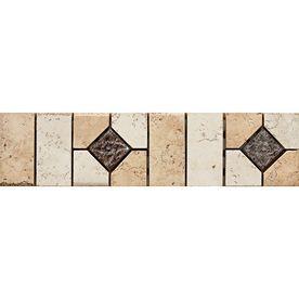 Del Conca Rialto Beige White Thru Body Porcelain Mosaic Listello Tile Common