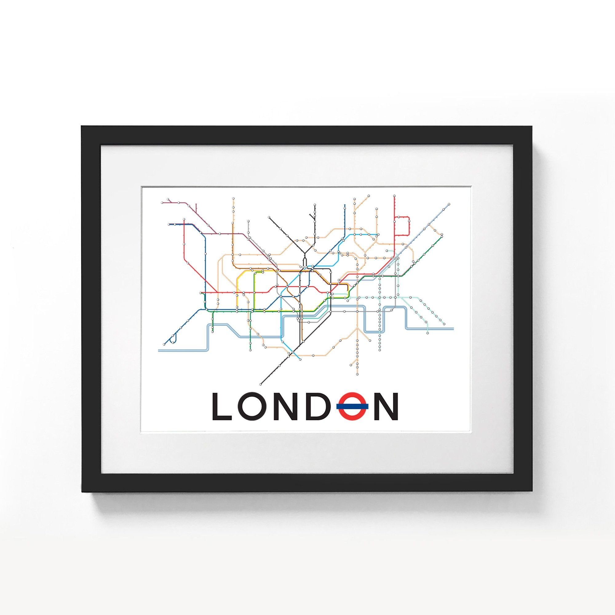 London Underground Tube Map Poster A3 A2 Sizes Minimalist