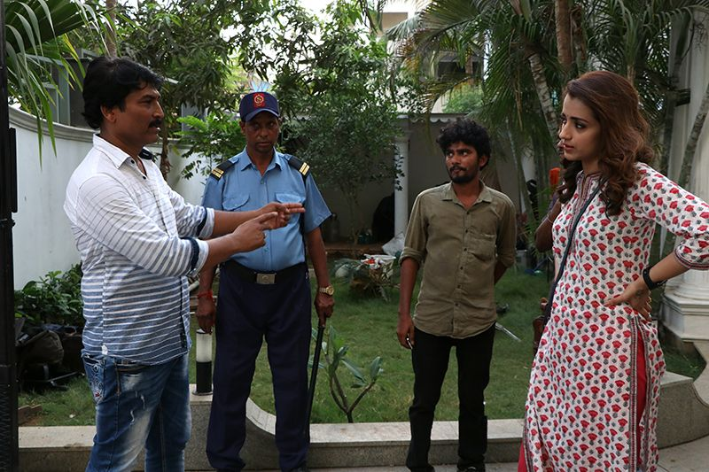TRISHA'S ACTION THRILLER PARAMAPADHAM VILAIYATTU NEARS WRAP UP MOMENT