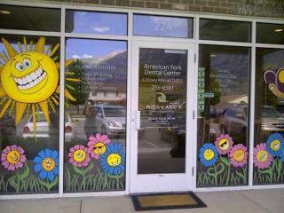 window painting/ seasons Spring,Summer, Fall etc. Window
