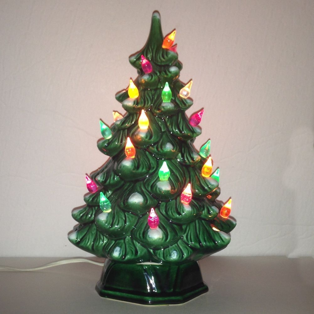 Vintage Ceramic Christmas Tree 1970s 11 With Lights Made In Canada Vintage Ceramic Christmas Tree Vintage Christmas Tree Ceramic Christmas Trees
