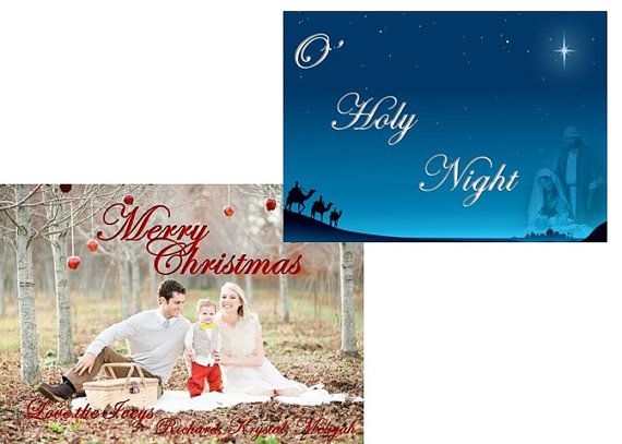 Christian Christmas Photo Cards Personalized by InstantlyInvite