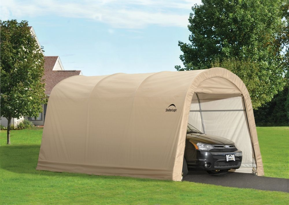 Portable Car Garage In A Box 10x15x8 - Shelter Logic Temporary Car Storage Tent #ShelterlogicShelterLogicshelterlogic & Portable Car Garage In A Box 10x15x8 - Shelter Logic Temporary Car ...