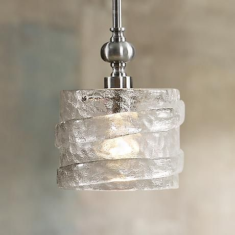 Uttermost mossa seeded glass 1 light mini pendant light mini uttermost mossa seeded glass 1 light mini pendant light mozeypictures Image collections