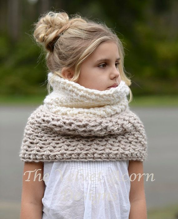 CROCHET PATTERN-The Whirlyn Cowl (Toddler, Child, Adult sizes)