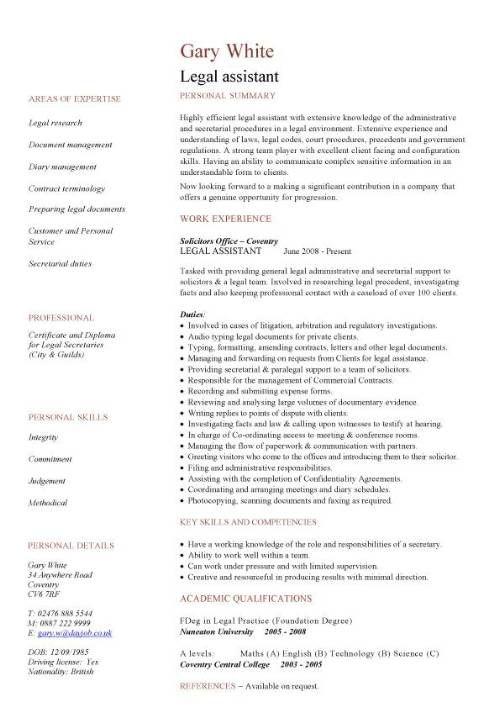 Litigation Paralegal Resume Cover Letter -   wwwresumecareer - litigation paralegal resume