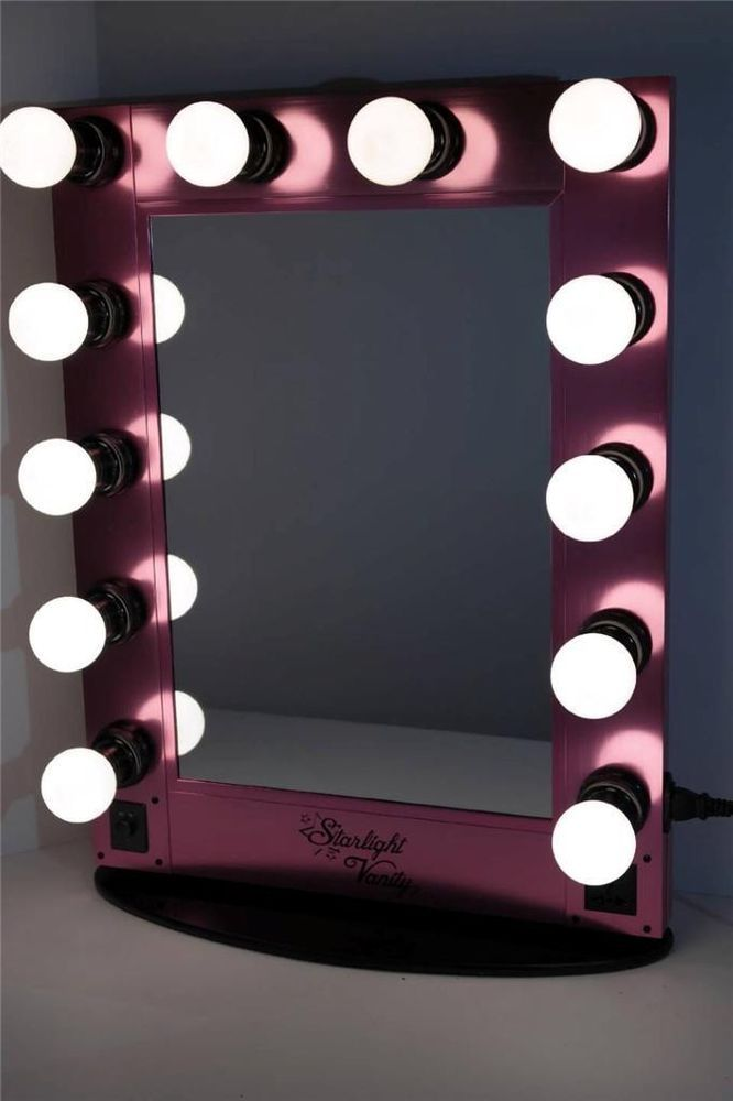 Starlight hollywood lighted vanity makeup mirror table top w fab find starlight hollywood lighted vanity makeup mirror table top w dimmer pink starlight mozeypictures Gallery