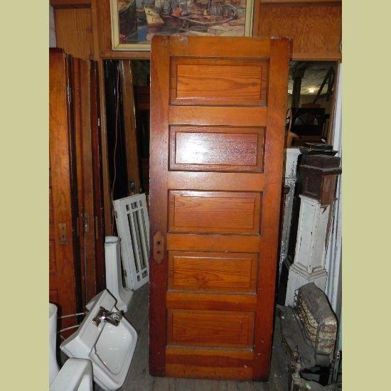 VINTAGE 5 HORIZONTAL RAISED PANEL DOOR : Architectural Artifacts   Toledo,  OH. Raised Panel DoorsInterior ...