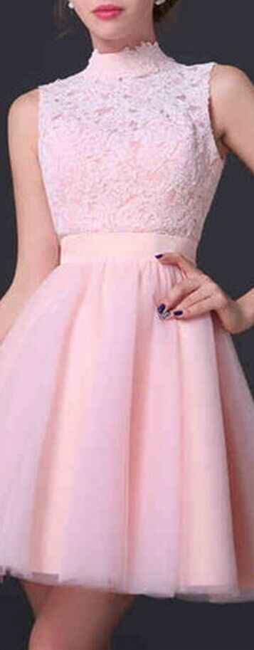 Short Prom Dresses Pink Prom Dresses Open Back Prom Dresses Tulle ...