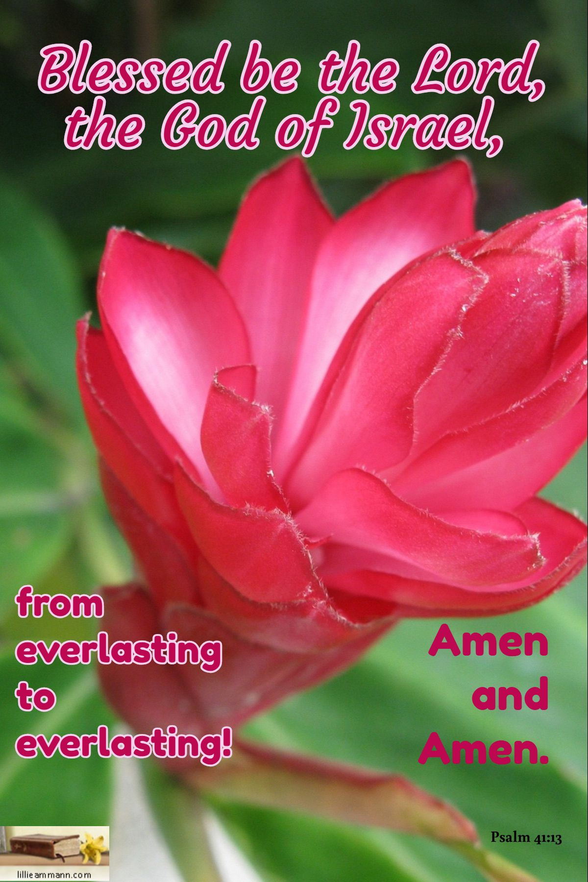 Blessed be the Lord, the God of Israel, / Psalm 41:13 / from everlasting to  everlasting! / Amen and Am… | Inspirational scripture, Motivational  scriptures, Psalm 41
