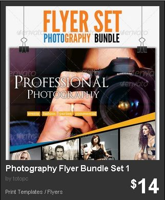 Photography Flyer Bundle Set 1 - 3 Versions Of Minimalist