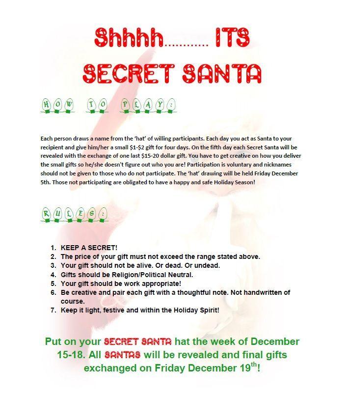 secret santa guidelines 29 best images about social on pinterest teaching secret santa. Black Bedroom Furniture Sets. Home Design Ideas
