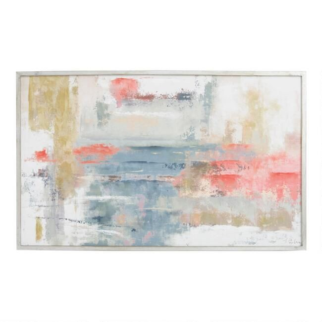 Blush Abstract By Joasia Pawlak Framed Canvas Wall Art Canvas Wall Art Abstract Framed Canvas Wall Art