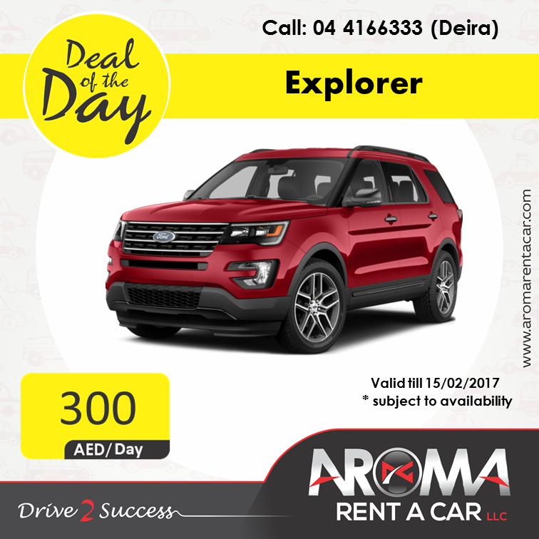 Rent A Car Daily Aroma Rent A Car Offers Deal Of The Day Deira