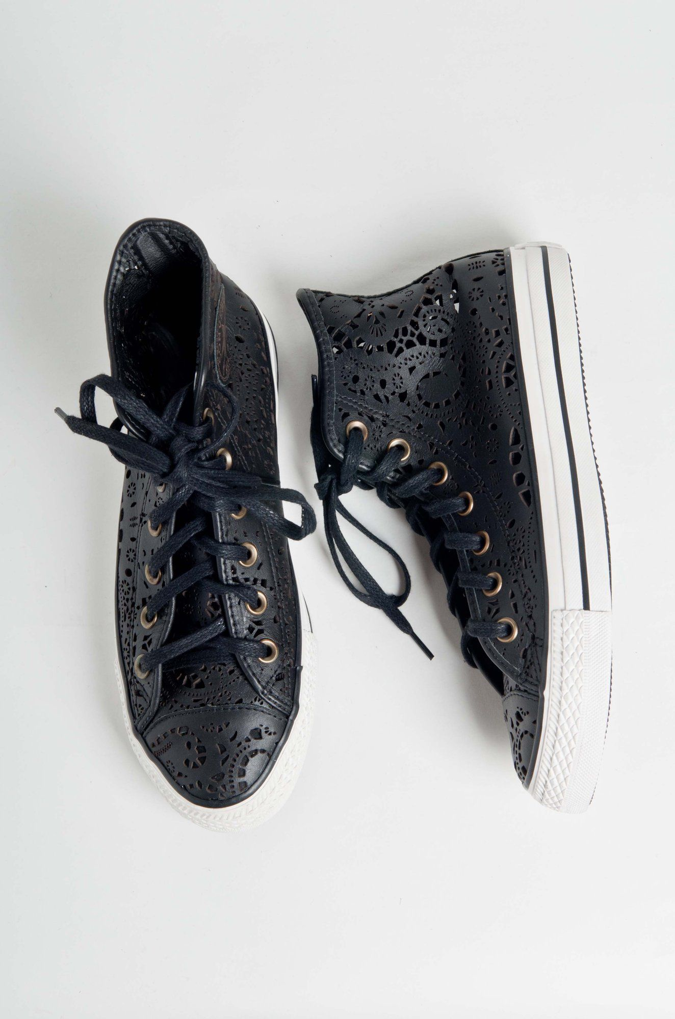 823b2e56a Lasercut Leather Converse. Where can I get this awesomeness ...