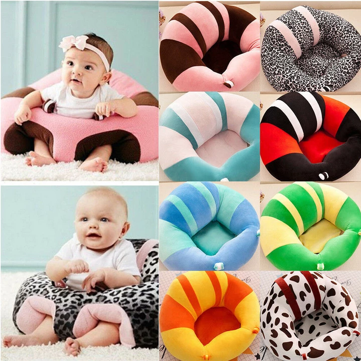 Baby Kids Support Seat Sit Up Soft Plush Cushion Bean Bag Sofa Chair Pillow Toy