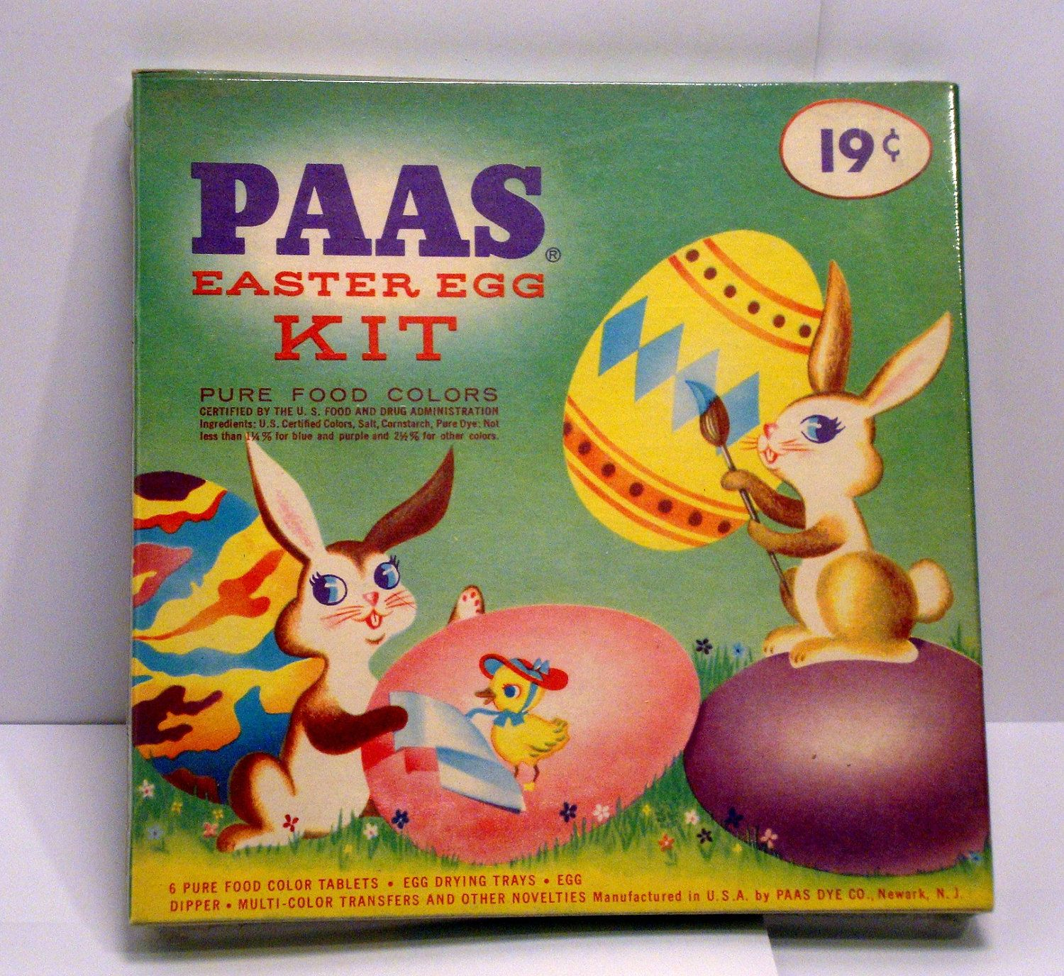 Vintage Paas Easter Egg Color And Transfer Dye Kit