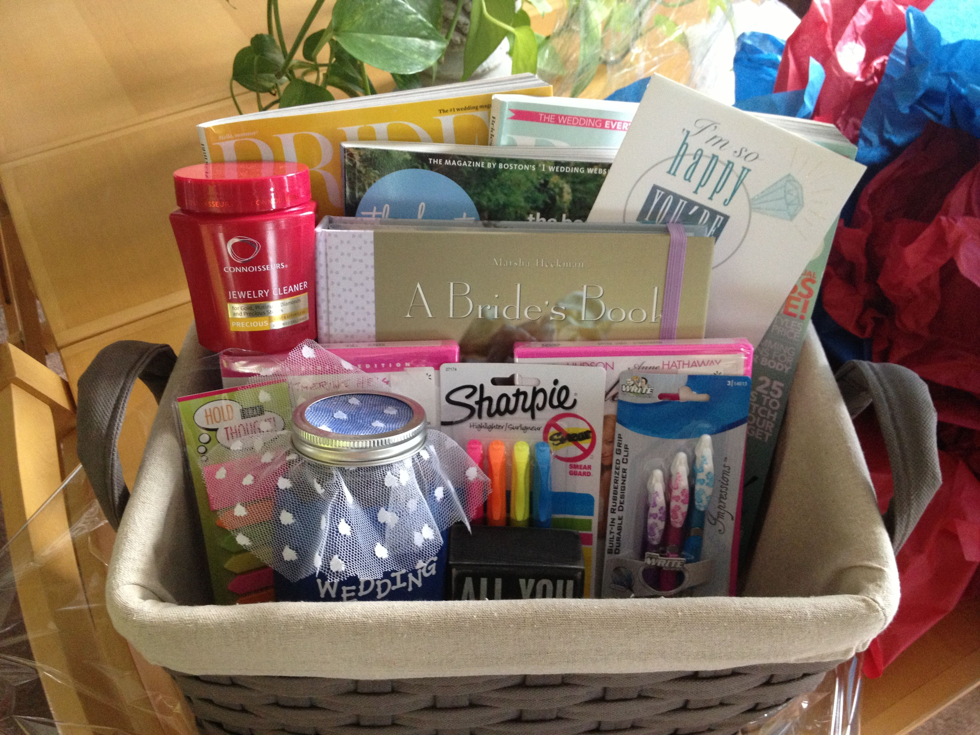 Gift Ideas For Friends Wedding: Put This Basket Together For My Newly Engaged Best Friend