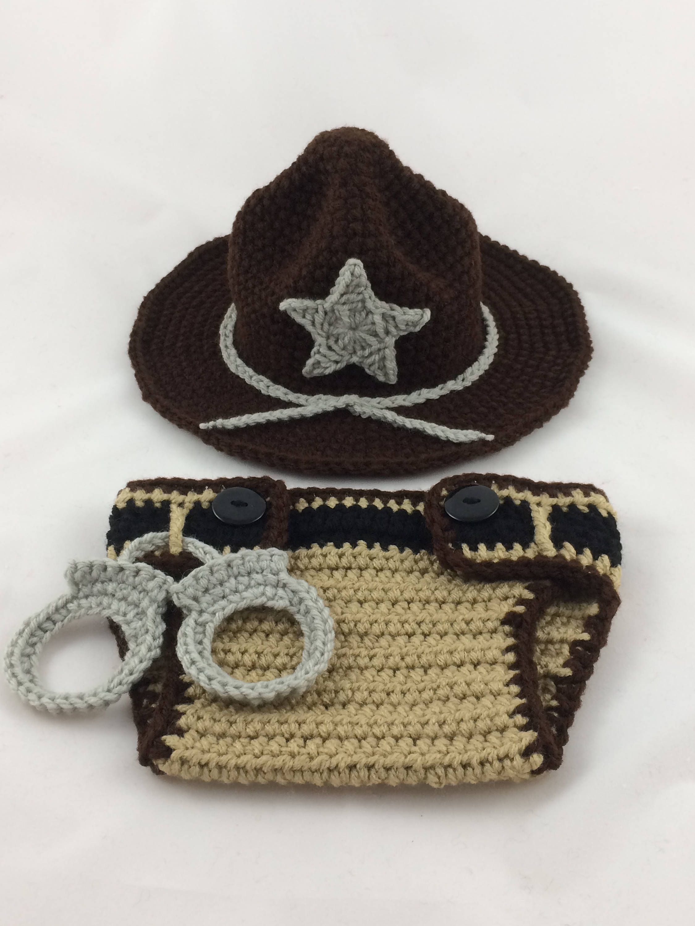 5b2d7acac2c Deputy Sheriff Baby Outfit - State Trooper - Police Officer Baby - Sheriff  Deputy - Baby Police Outfit - Park Ranger - Baby Police by  TimelessCrochetCraft ...