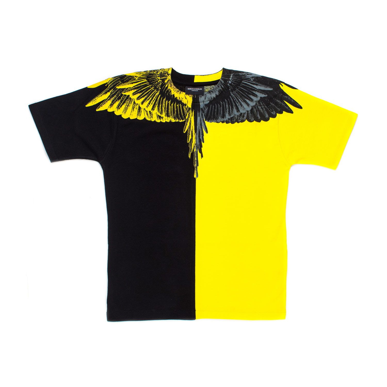 05722832eb Marcelo Burlon - T-Shirt Gialla E Nera Bambino Teen - Maglietta ...