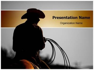 cowboy powerpoint template is one of the best powerpoint templates