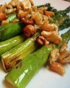 Asparagus and Cashews.