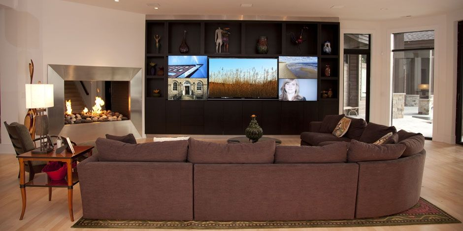 Living Room Tv Setup Build Your Own Set Five Way Sports Screen Multiple Wall In 2019 Pinterest Home Man Cave Options Technology Basement