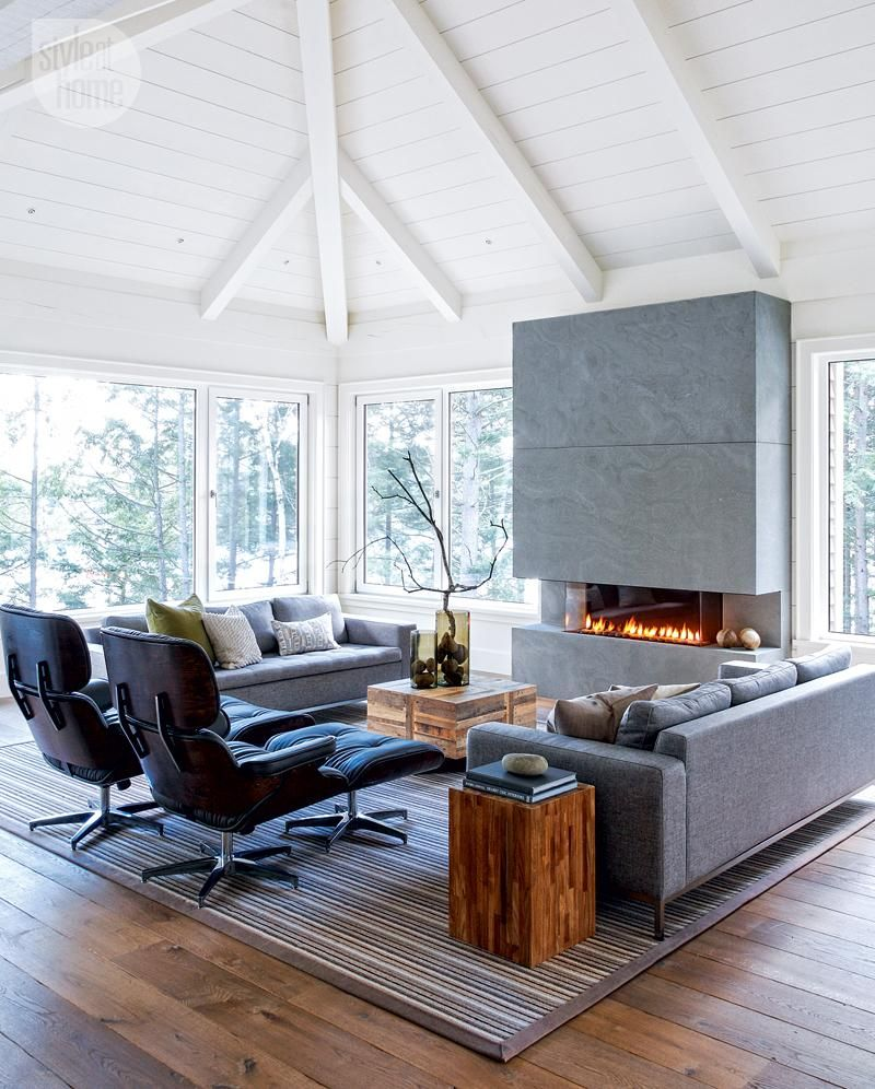 Modern family living room house tour casual contemporary cottage  cottage style  pinterest