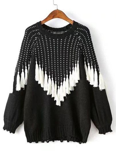 Womens Tassle Detail Sweatshirt find Brand