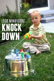 Toddler Approved  LEGO Minifigure Knock Down Game  Toddler Approved  LEGO Minifigure Knock Down Game