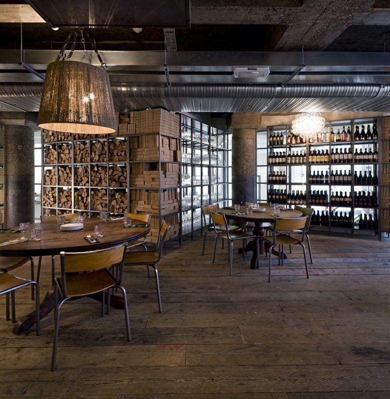 magnifique lieu de restauration londres am nag dans un style industriel pizza east london. Black Bedroom Furniture Sets. Home Design Ideas