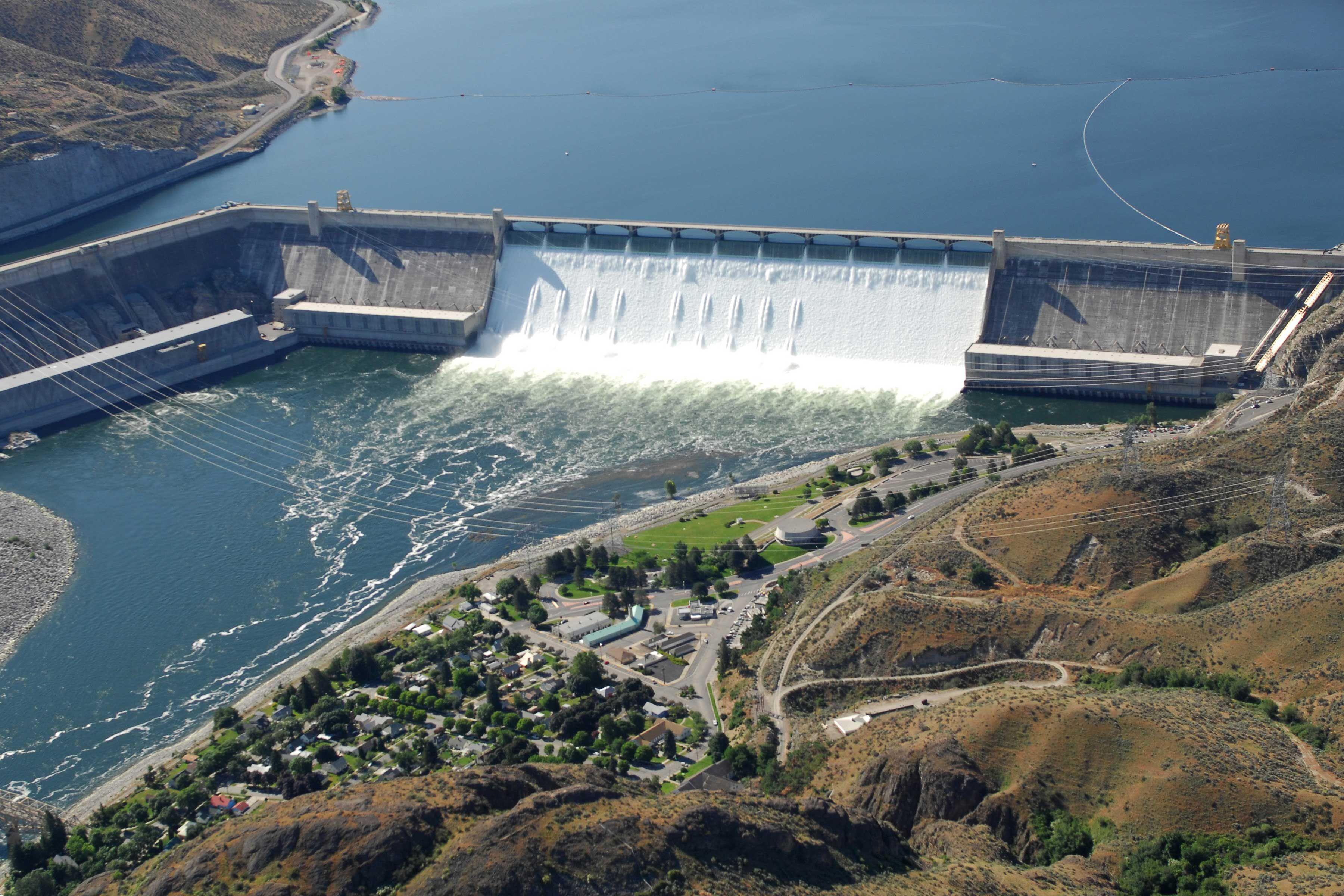 Represa Grand Coulee Altura 168m Inauguracao 1o De