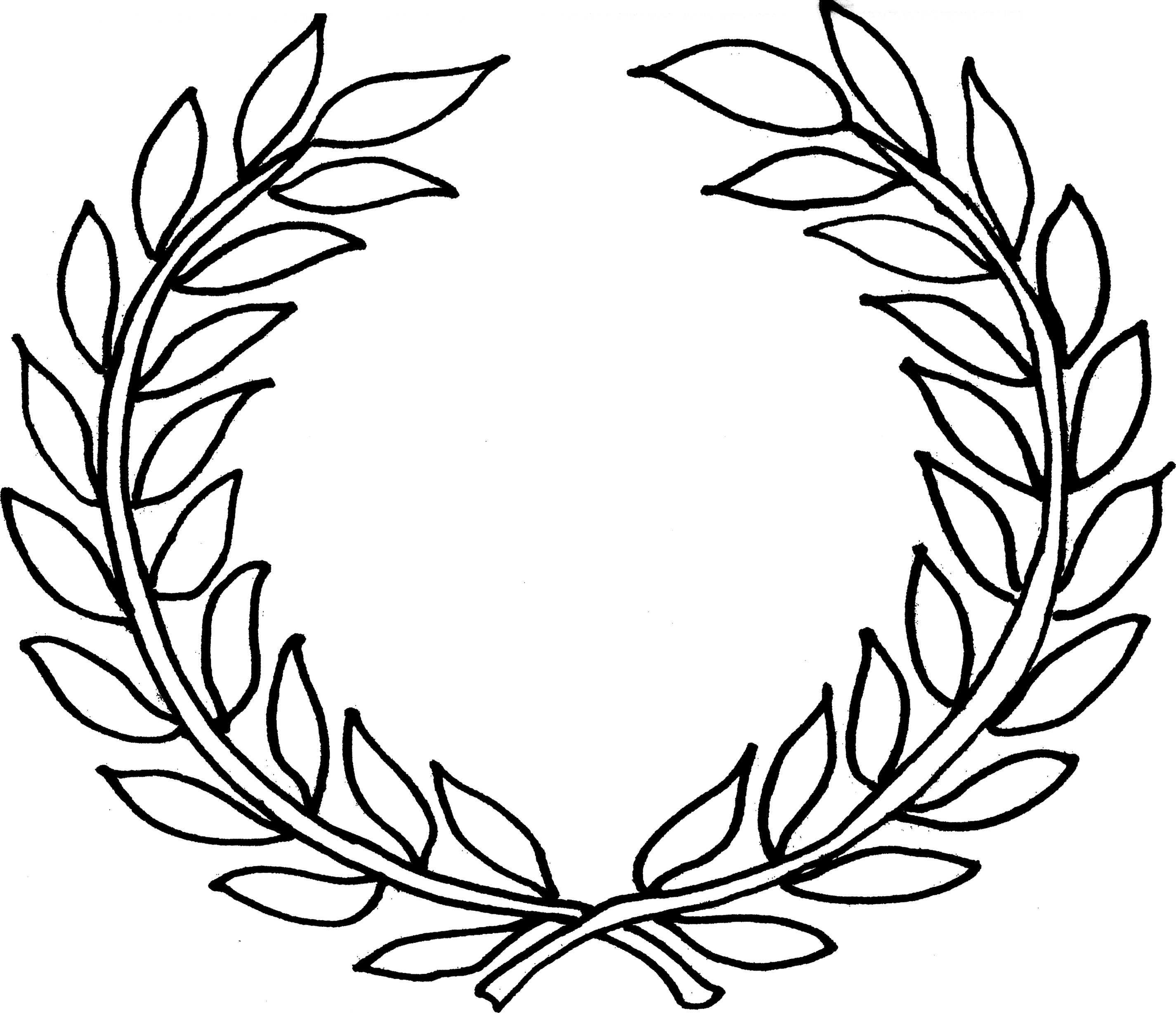 Top laurel wreath crown clipart 2850 2457 for Laurel leaf crown template