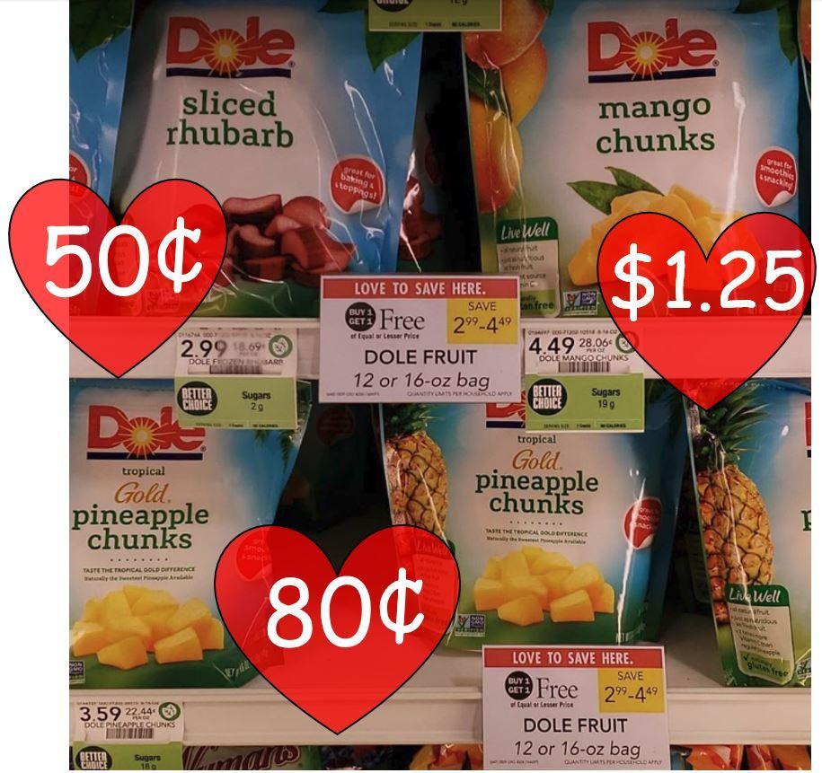 Dole Frozen Fruit as low as 0.50 Publix Starting 6/5