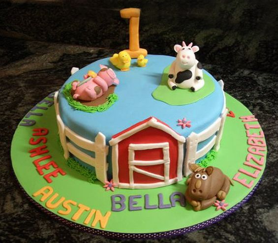 celebration cakes barnyard cake gold coast the pasteles on birthday cake delivery gold coast