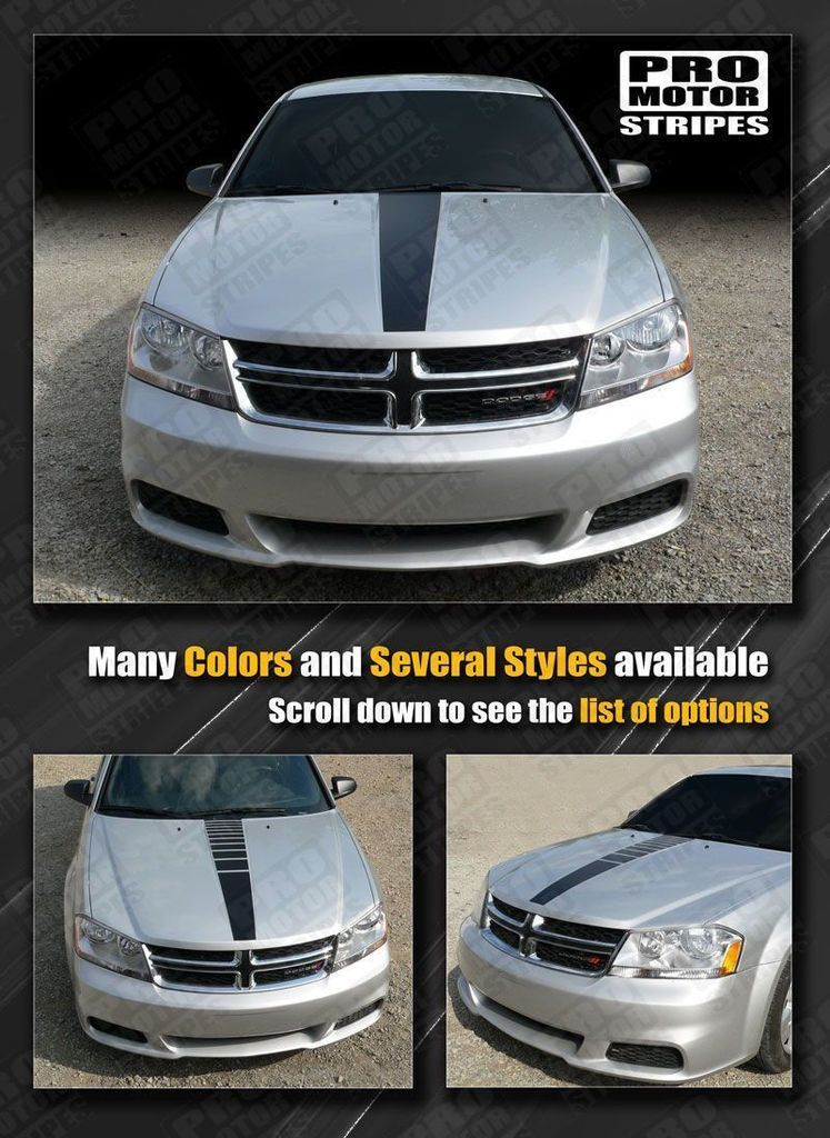 Dodge Avenger 2008 2014 Hood Center Accent Stripe Decal Dodge Avenger Dodge Avengers Decals