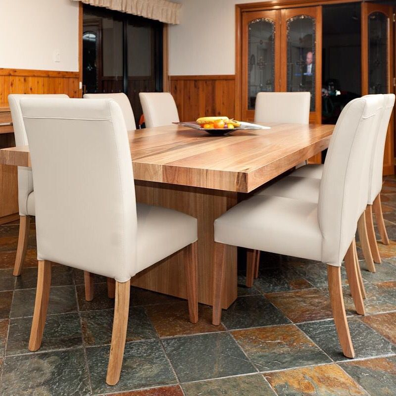 Spotted Gum Dining Table Amp Leather Dining Chairs Custom