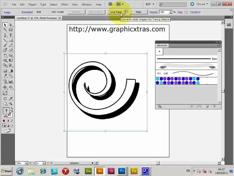 Convert brushes to Illustrator brushes trace
