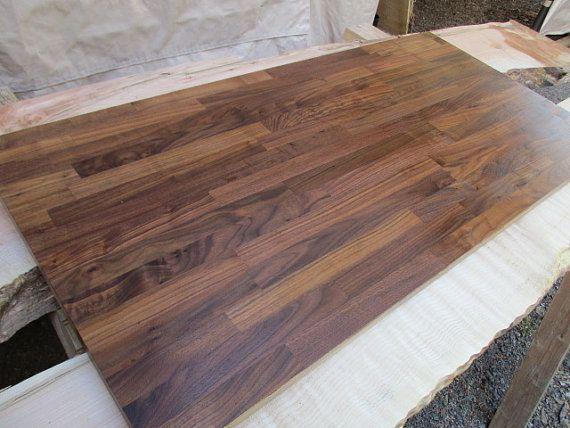 Butcher Block Walnut Desk Top 52 Long X 25 0 Wide Sit Stand