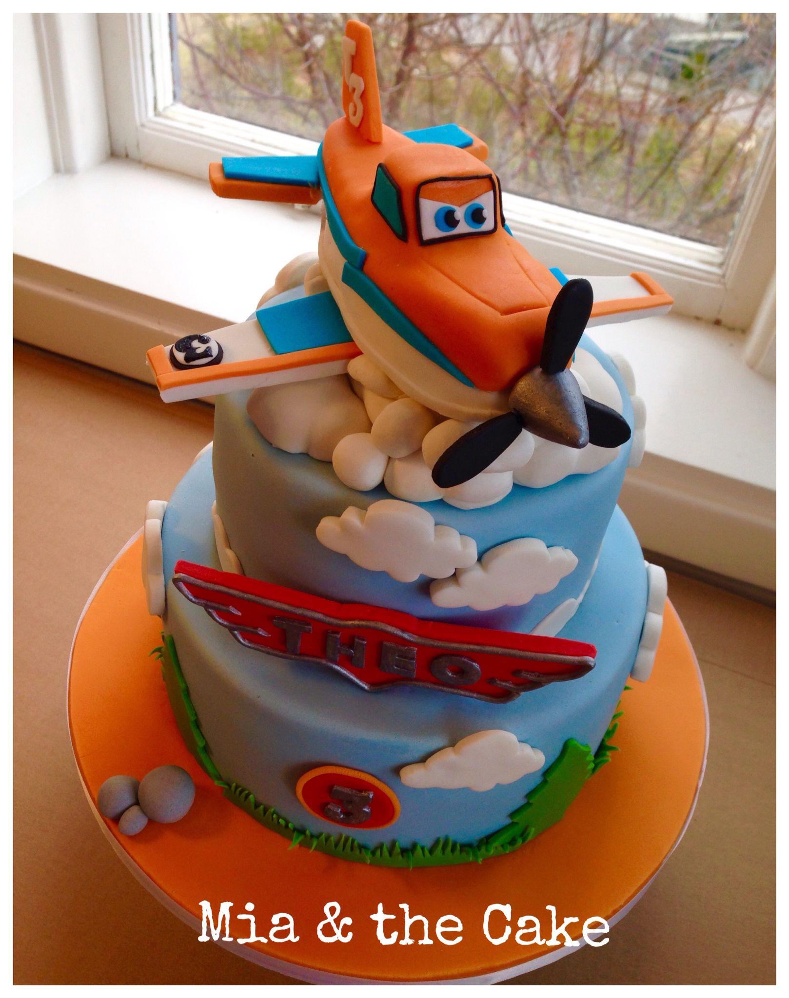 Dusty Crophopper Disney Cake 3rd Birthday Party Pinte