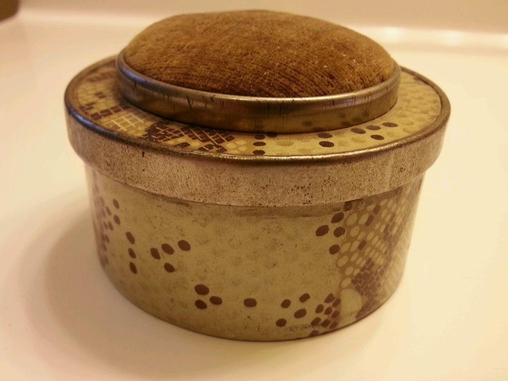 Vintage pin cushion sewing box Japan