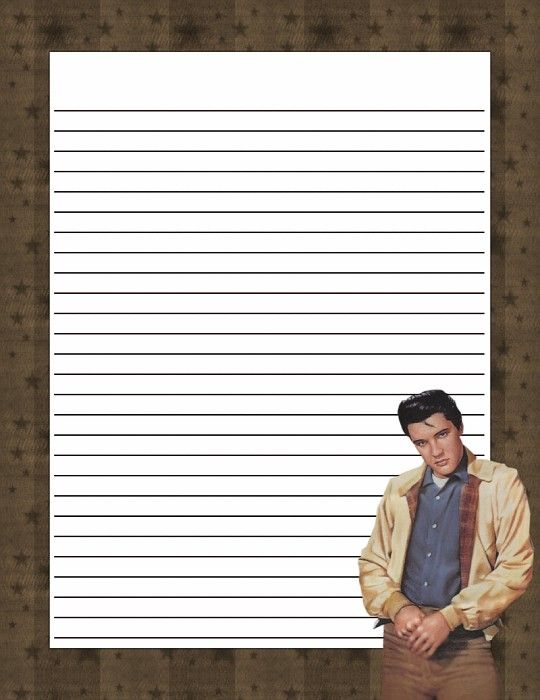 Elvis 50s Stationery Lined