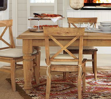 Hamilton Reclaimed Wood Extending Dining Table Potterybarn