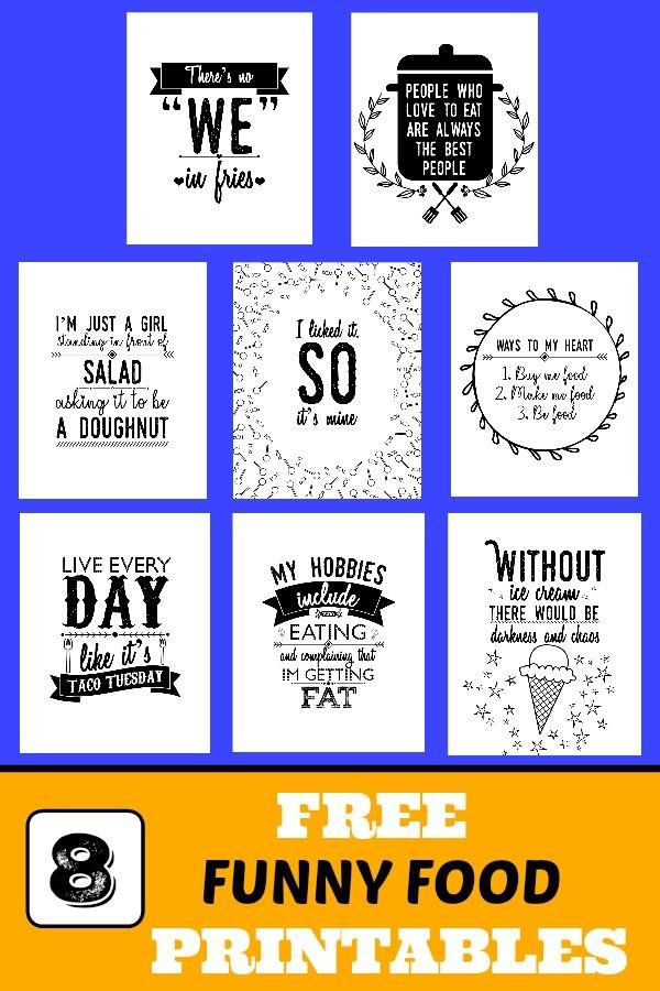 Free Funny Food Printables Kitchen Wall Art Printables Funny Wall Art Kitchen Printables