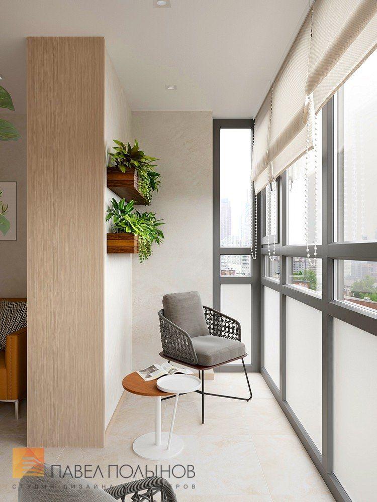 "Фото дизайн лоджии из проекта ""дизайн-проект квартиры 72 кв.."