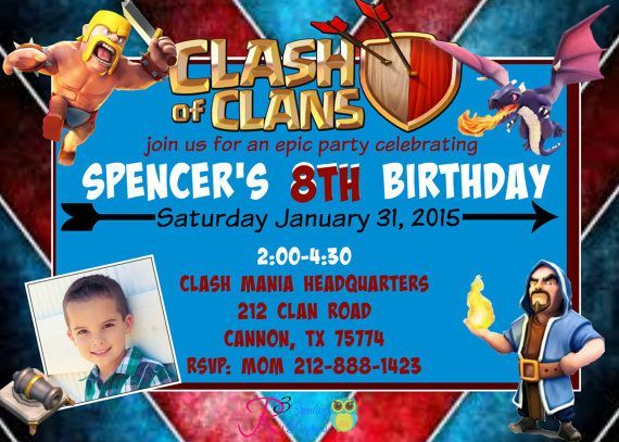 Clash of Clans Inspired Party Invitation by R3CreativeDesign Clash