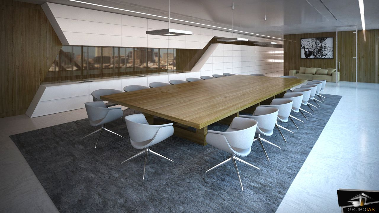 Sala de reuniones dise ado grupoias oficces pinterest for Despachos de diseno de interiores df